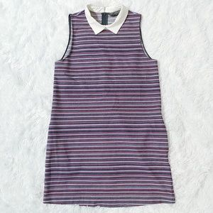 Zara Trafaluc Collection Striped Dress with Collar